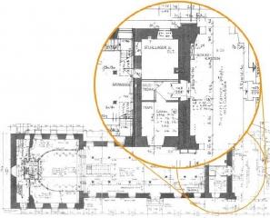 Grundriss der Schlosskirche mit geplantem Eingangsbereich